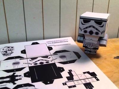 Star Wars cubeecraft papercraft stormtrooper