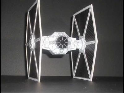 Star Wars, Papercraft. (Tie Fighter)
