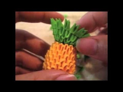 Time lapse of me making my mini 3D origami pineapple