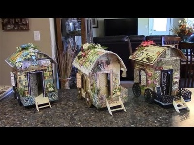 TUTORIAL - PART 2 GYPSY WAGON USING GRAPHIC 45 PAPER - DESIGNS BY SHELLIE