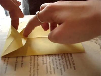 Tutoriel: marque-page coeur en origami