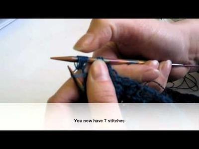 2 into 9 knit stitch