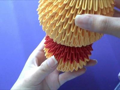 3D Origami Winnie the Pooh Tutorial