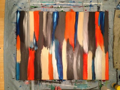 Abstract. Modern Painting #2 Acrylic 3' x 4' DIY how to