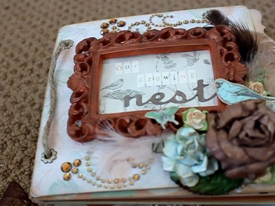 "Baby Shower Scrapbooking Mini Album: ""Our Growing Nest"""