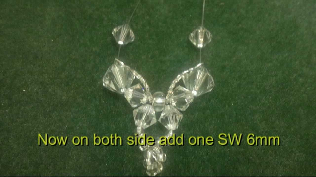 Beading4perfectionists : Butterfly bracelet with Swarovski beads tutorial