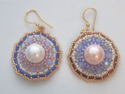 BeadsFriends: Beaded Earrings Tutorial - How to make the Wheel earrings (Brick Stitch)