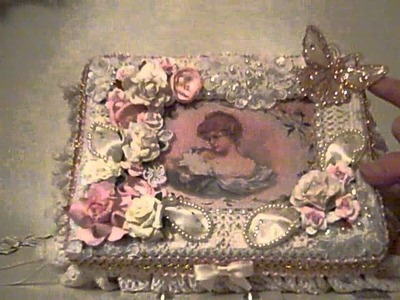 Beautiful Shabby Chic Lace Altered Box