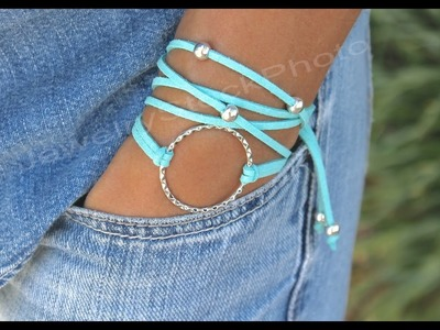 Boho Infinity Circle Charm Triple Wrap Bracelet - Step by Step DIY Tutorial How to Size - # 332