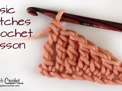 Crochet Basics: Stitch Comparison - Right Handed