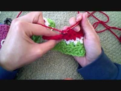 Crochet Winter Watermelon Scarf part 2