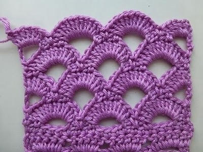 "Crochet with eliZZZa * Crochet Stitch ""Mesh from Shells"""