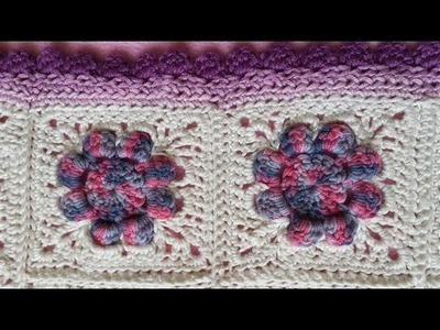 Daisy Granny Square Blanket - Part 2 (Crochet Tutorial) - Making Flowers into Granny Square