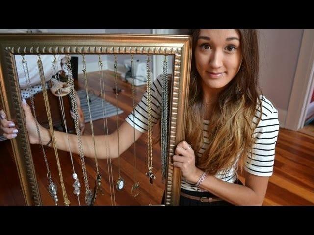DIY Apartment Decor: Jewelry Holder Frame