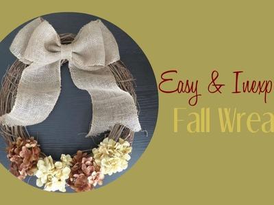 DIY Fall Wreath | Fall Room Decor | Fall Wreath Tutorial