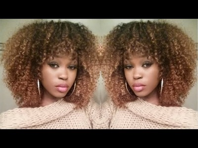 DIY| Golden Curly FRO | Hair-Spiration