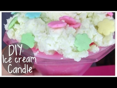 DIY Ice Cream Candle (NO WAX)