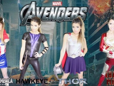 DIY Marvel Avengers Halloween Costumes | Easy Girl Group Costume!