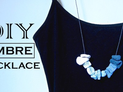 DIY Ombre Statement Necklace