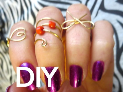 DIY Projects! 3 Mid Finger Rings