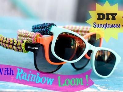 DIY Rainbow Loom Sunglasses with fishtail design! Original concept