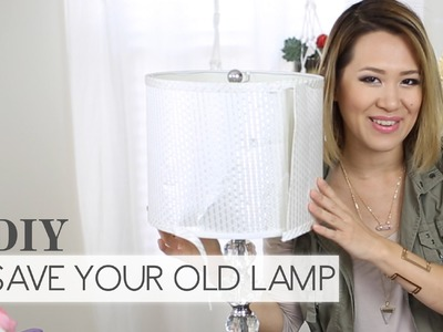 DIY: Recycle that Old Lamp ∞ Trash to Fab w. AnneorShine