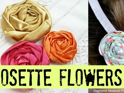 DIY Rosette Fabric Flower