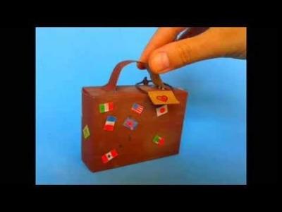 DIY. Suitcase candy box ♥ Manualidades. Maleta de Dulces
