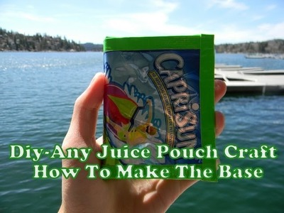 Diy-Tutorial-How To Make Any Juice Pouch Crafts With Duct Tape (Such As Any Type Of Wallet)