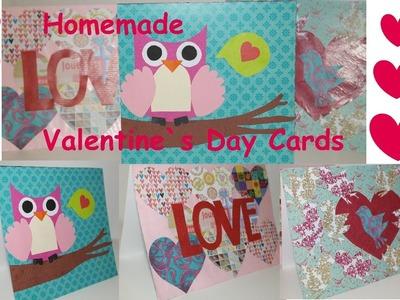 DIY VALENTINE´S DAY CARDS! Valentinstag karten selber machen!
