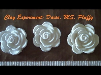 Experiment: Daiso Clay, MS Crafter's Clay, and Sculpey Pluffy