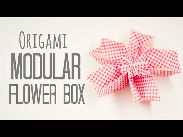 Flower Box Modular origami instructions