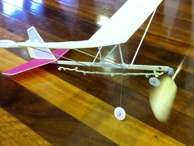 Hanger Rat indoor rubber band powered model aircraft