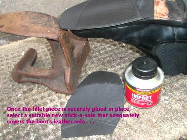 Home diy repair of shoe and boot soles.