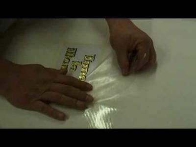 How to apply cricut vinyl overlay by Amazing Graphics