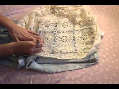 How to: Create your own crochet denim shorts. Strawberryelectric48 contest entry