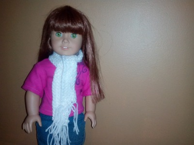 How to crochet a doll scarf