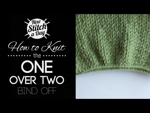 How to Knit the One Over Two Bind Off {English Style}