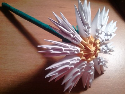 How to make 3D origami  flower