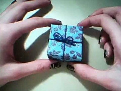 How to make a gift box.jewelery box out of a simple origami box