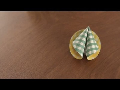 How to Make Paper Fortune Cookies : Paper Art Projects