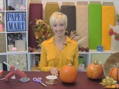 How-to make Ribbon Pumpkins