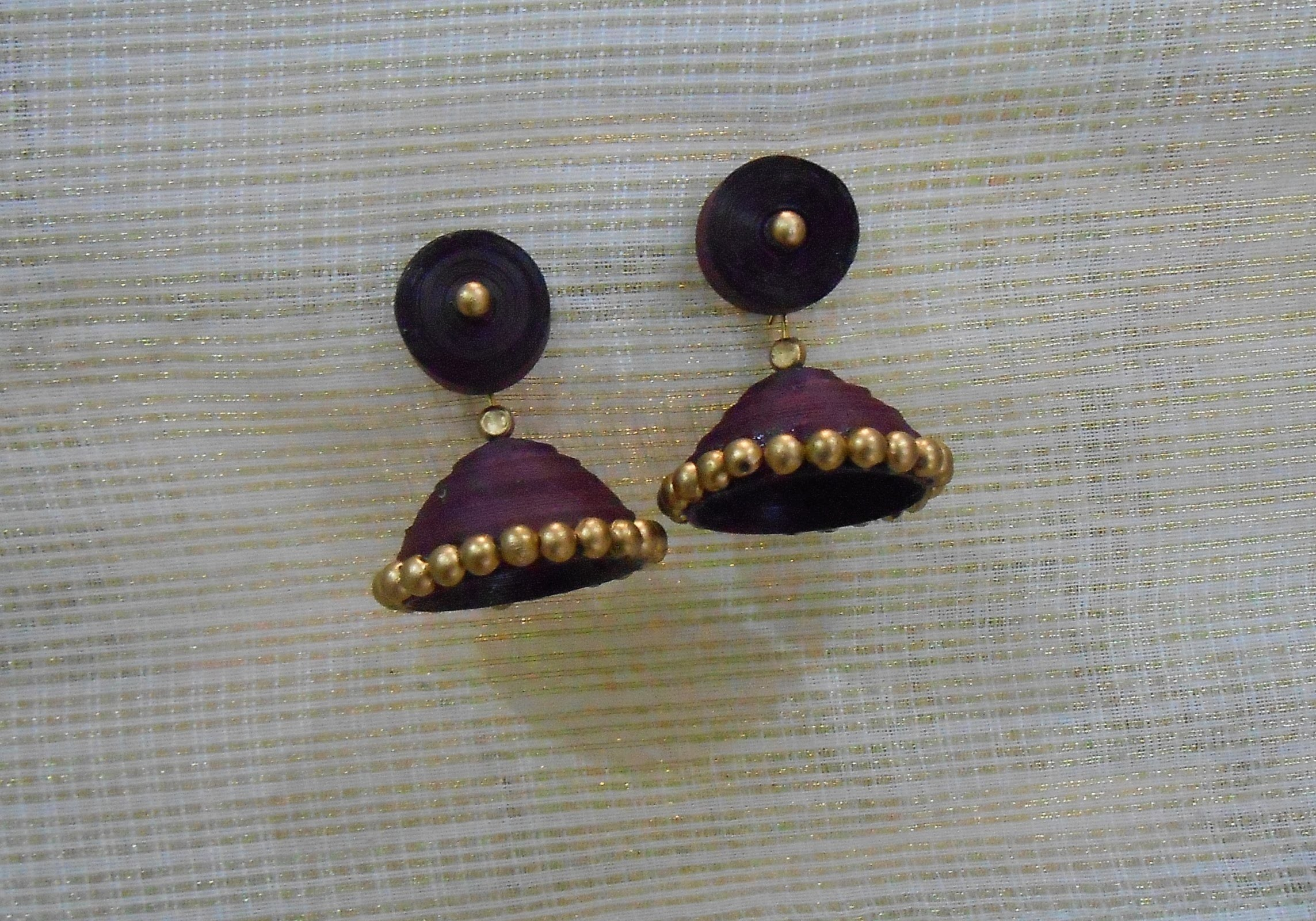 How to Quickly Make Quilling Jhumka.Earrings