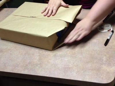 How to wrap a gift or simple gift wrap