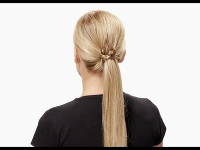 Invisibobble DIY hair tutorial: top knotch