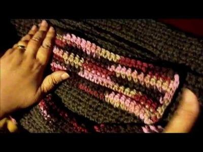 Large Felted Crochet Handbag