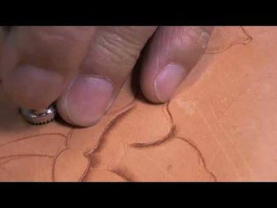 Leather Carving - How to Use a Camouflage Tool