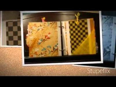 "Mini album ""japanese washi"" scrapbooking"