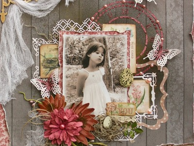 Mixed Media Scrapbook Page Video Tutorial