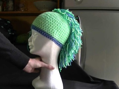 Mohawk Hat. Beanie Mini Crochet Tutorial